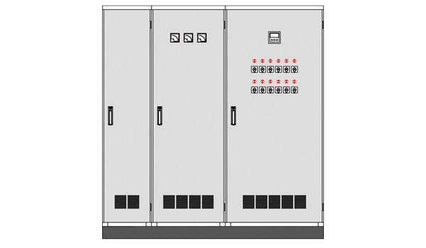 paneles eléctricos internos de pie